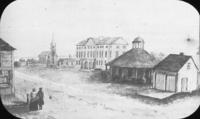 Queens Square.  Drawing, ca. 1846 ?